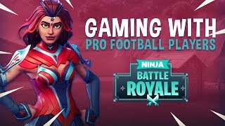 Download Gaming With Pro Football Players?! - Fortnite Battle Royale Gameplay - Ninja Video