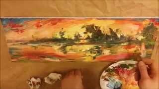 Download Landscape Oil Painting Demo ″Sunset at lake″ Video