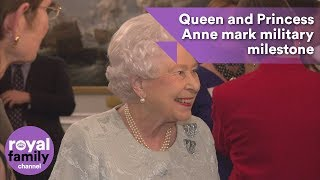Download The Queen and Princess Anne mark military milestone Video
