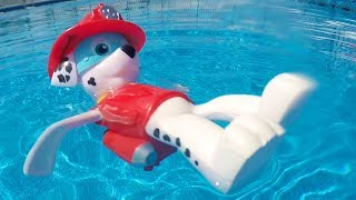 Download PAW PATROL POOL PARTY GAME with Merpups Chase, Skye, Marshall, Rubble, Zuma Swimming Toys Video