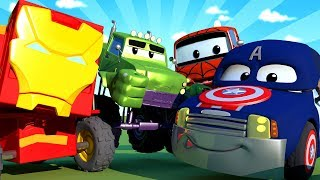 Download Car Patrol - Special Avengers - Avengers save Jeremy - Car City ! Police Cars and fire Trucks Video
