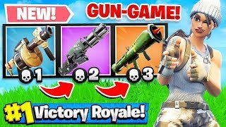 Download GUN GAME *NEW* MODE in FORTNITE Battle Royale! (Challenge) Video