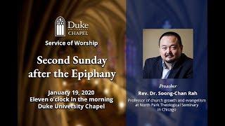Download Sunday Morning Worship Service - 1/19/20 - Rev. Dr. Soong-Chan Rah Video