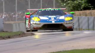 Download The Ford GT race car climbs the hill at Goodwood Festival of Speed Video
