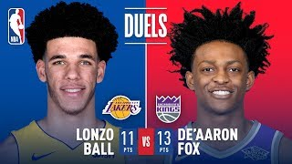 Download Rookie Point Guards Lonzo Ball and De'Aaron Fox Duel in Sacramento | November 22, 2017 Video