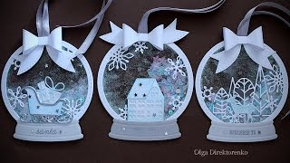 Download WHITE CHRISTMAS - DAY 21 - Snowglobe Shaker Tags Video