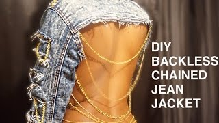 Download DIY| ANGEL BRINKS INSPIRED BACKLESS CHAINED JEAN JACKET!! Video