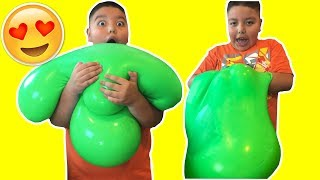 Download DIY GIANT SLIME STRESS BALL! Super Soft & Squishy! Video
