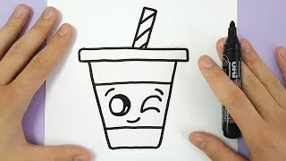 Download HOW TO DRAW A CUTE DRINK - SUPER EASY AND KAWAII Video