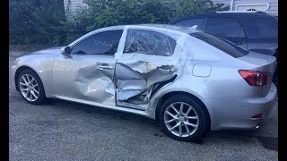 Download 2011 Lexus IS250 AWD driver side hit with air bag deployment time lapse repair Video