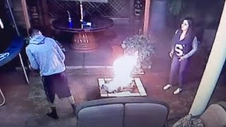 Download HE BURNED ALL HER STUFF!! *CAUGHT ON CAMERA* Video