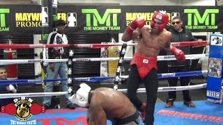 Download MAYWEATHER SPAR WARS: BOXER VOMITS IN THE RING, BRENTON NORWOOD VS CHRISTIAN Video