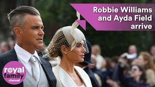 Download Robbie Williams and Ayda Field arrive at royal wedding Video