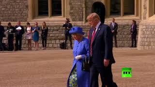 Download مراسم استقبال الملكة إليزبيث الثانية للرئيس الأمريكي دونالد ترامب وقرينته ميلانيا Video