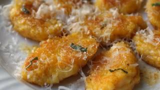 Download Butternut Mascarpone Gnocchi Recipe - Mascarpone Cheese and Butternut Squash Dumplings Video
