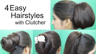 Download 4 Awesome Hairstyles by using Clutcher | Hairstyles for medium or long hair Video