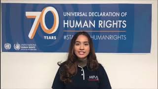 Download MIRA USA, United States, reading article 25 of the UDHR in English Video
