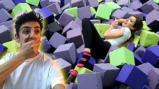 Download Molly ACTUALLY GOT INJURED by doing this... (TRAMPOLINE PARK DARES) | FaZe Rug Video