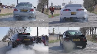 Download Cars Leaving Cars&Coffee Twente 2017! BRUTAL SOUNDS & BURNOUTS! Video