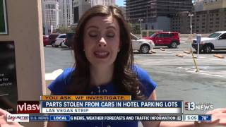 Download Tires and wheels stolen in Las Vegas Strip parking garages Video