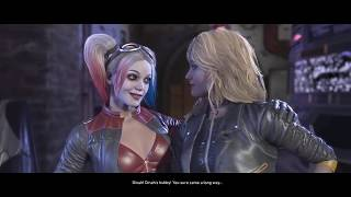 Download Injustice 2 Harley Quinn, Black Canary, And Green Arrow Meet in the Batcave Video