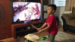 Download Aidan Lion Dance Drumming from 10 months old to 5 years old Video