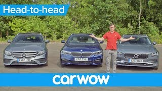 Download Volvo V90 v BMW 5 Series Touring v Mercedes E-Class Estate 2018 | Head2Head Video
