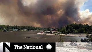 Download Forest fires burn in northern Ontario Video