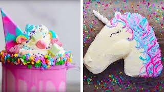 Download 10 Amazing Unicorn Themed Easy Dessert recipes | DIY Homemade Unicorn Buttercream Cupcakes & More Video