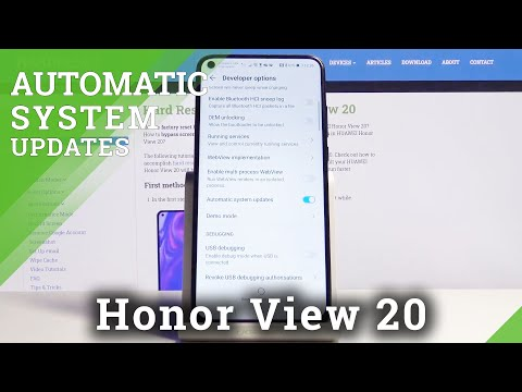 How to Enable Automatic System Updates on Honor View 20 – App Update