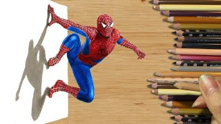 Download 3D Colored Pencil Drawing: Spider-Man - Speed Draw | Jasmina Susak Video