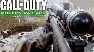 Download Call of Duty 4 Modern Warfare Remastered Sniper One Shot One Kill Mission Gameplay Veteran Video
