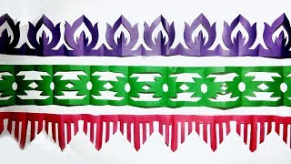 Download paper cutting design-How to make paper cutting border designs  paper art easy step by step.. Video