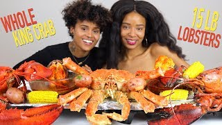 Download WHOLE KING CRAB MUKBANG (with 15LB LOBSTERS, potatoes and corn) - 30LB SEAFOOD BOIL Video