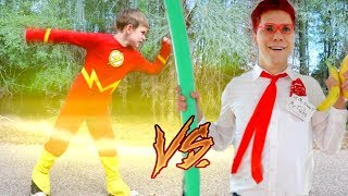 Download The Flash vs Batman Vs YouTube: Play it Safe SuperHeroKids! SHK Comic in Real Life Video