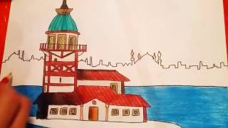 Download Çok kolay kız kulesi çizimi Video