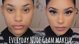 Download My Everday Glam Nude Makeup with Under Eye Dots (High End) Video
