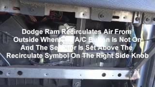 Download 2005 Dodge Ram A/C Recirculate Blend Door How To Repair Dash Removal Video