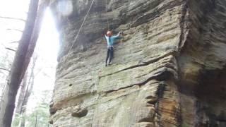 Download Rock Climbing Trek at Rectangle Rock ~ Hocking Hills Ohio by Ling Video