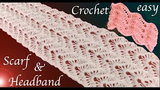 Download Como tejer a Crochet bufanda y diadema punto encaje en relieve tejido tallermanualperu Video