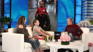 Download Ellen Meets Wildfire Survivor and 9-Year-Old Amputee Lilly Biagini Video
