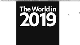 Download Alaska Prepper. Twilight Zone: ″The World in 2019″ Economist Magazine Cover. Video