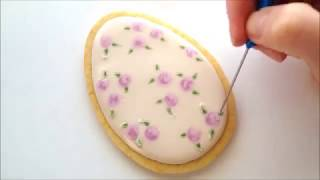 Download How to use the royal icing wet-on-wet technique on a cookie Video