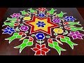 Download Parrot Rangoli With 21 x 11 Middle || Colourful Parrot Muggulu || Parrot Kolam || Fashion World Video