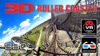 Download 3D 4K 360° Roller Coaster - TROY GCI Wooden Roller Coaster - VR180 Experience on-ride Toverland Video