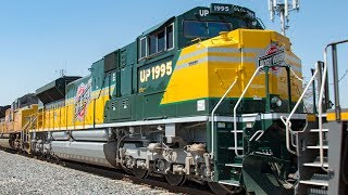Download 4K: Freight and Passenger Train Action in Los Angeles County - UP 1995, Warbonnets, & More! Video