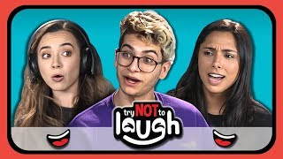 Download YouTubers React to Try to Watch This Without Laughing or Grinning #16 Video
