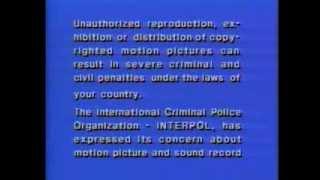 Download FBI Interpol (OIPC) Warning Screen (Warner Home Video version) [English & Français] Video