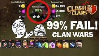 Download Coc th8 99% unluck attacks with low level troops Video