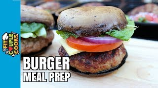 Download How to Meal Prep - Ep. 53 - LOW CARB BURGERS - GRILL MEAL PREP Video